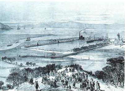The opening of Avonmouth Dock 1877