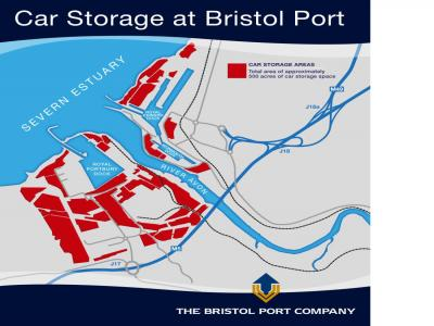 500 acres of car compounds at the Port