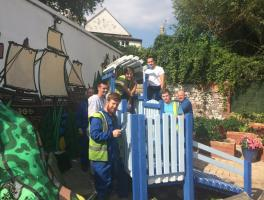 Apprentices on community project