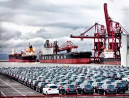 Motor vehicles at Portbury
